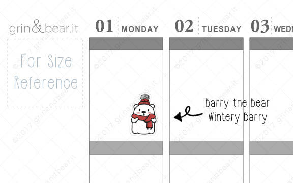 Wintery Barry! - Barry the Bear Stickers (BB053)