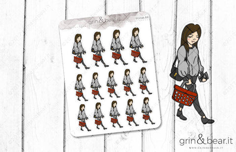Shopping - Everyday Girl Stickers (EG016)
