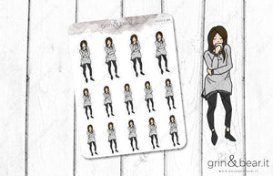 Sippin' on Wine - Everyday Girl Stickers (EG017)