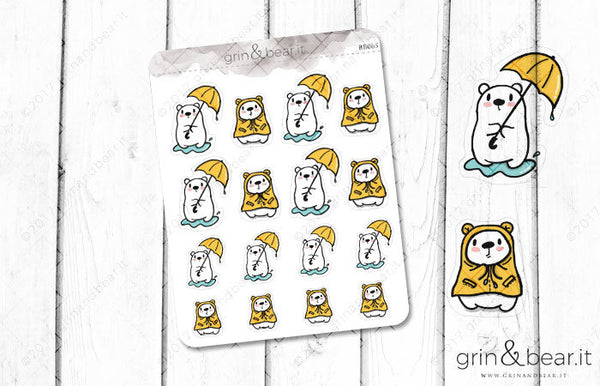 Rainy Day Barry! - Barry the Bear Stickers (BB065)