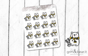 Hufflepuff Barry! - Barry the Bear Stickers (BB072)