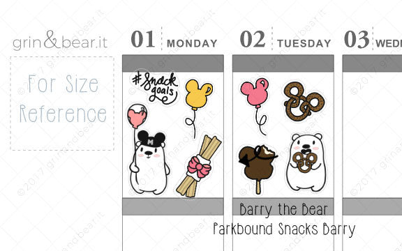 Parkbound Snacks Barry! - Barry the Bear Stickers (BB074)