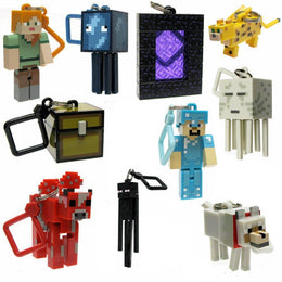 10pcs Minecraft Keychain Toy