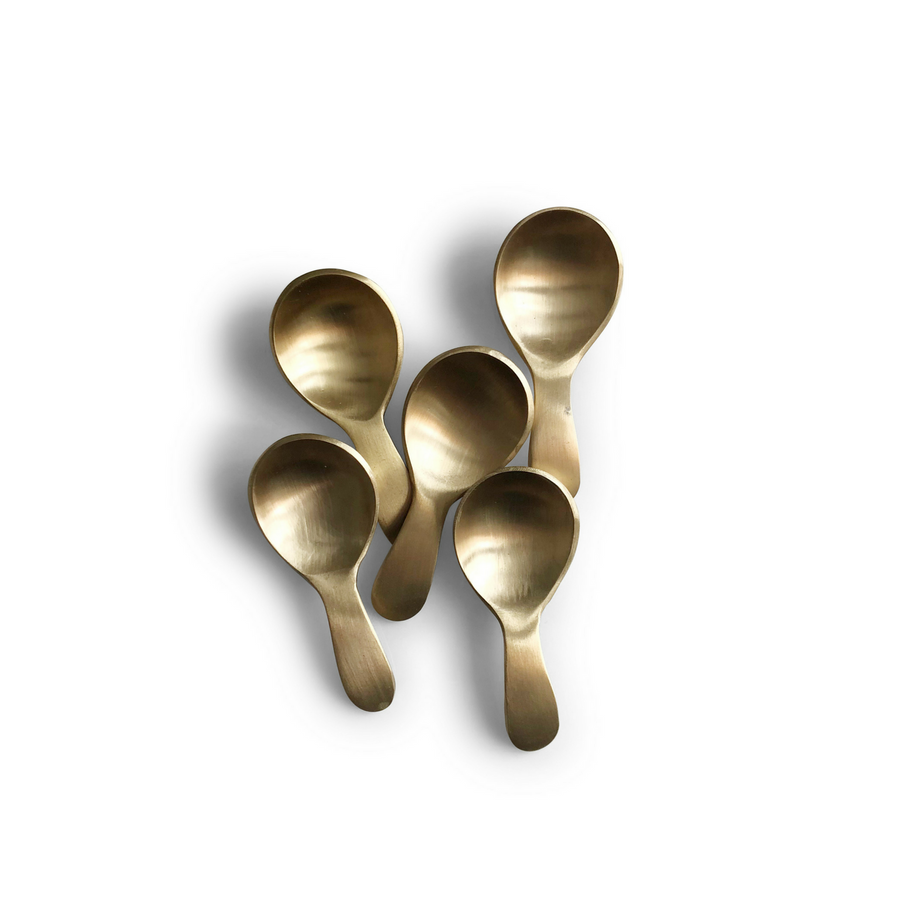 SMALL BRASS SCOOP SPOON