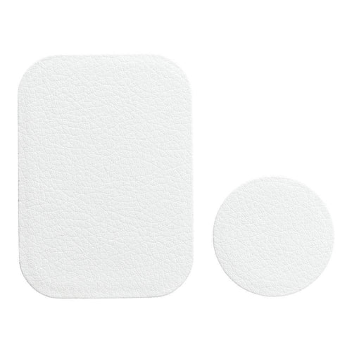 Badget for magnet car holder leather white - TopMag
