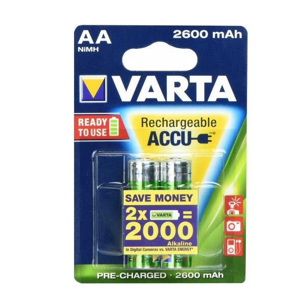 Презареждаща батерия varta r6 2600 mah (aa) 2 pz professional ready - battery, prtnr