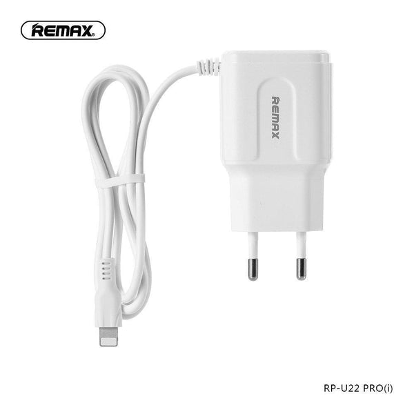 Remax зарядно 2 usb порта и кабел lightning rp-u22 pro 2.4a - charger, new
