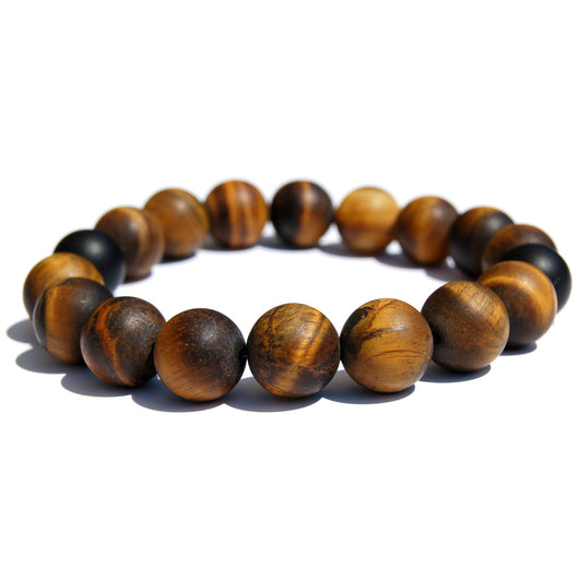 Tiger eye wood beaded bracelet.