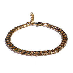 18k Gold Cuban Chain Bracelet