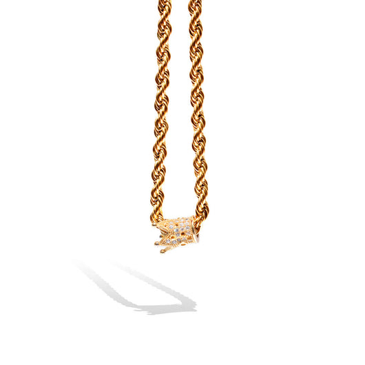 Gold Crystal Crown Necklace