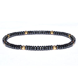 18K Gold faceted beaded bracelet