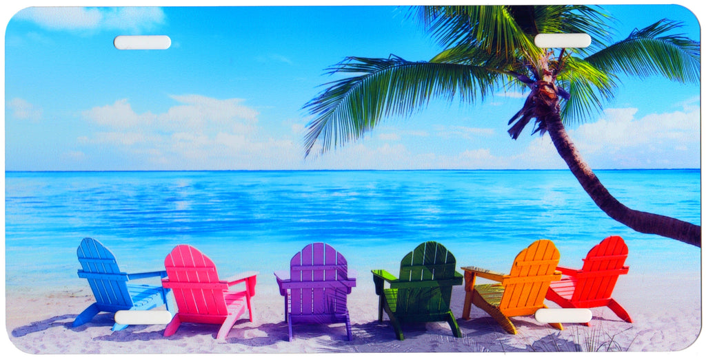 Beach Chairs Auto Tag  sc 1 st  PopShopArt & Beach Chairs Auto Tag u2013 PopShopArt