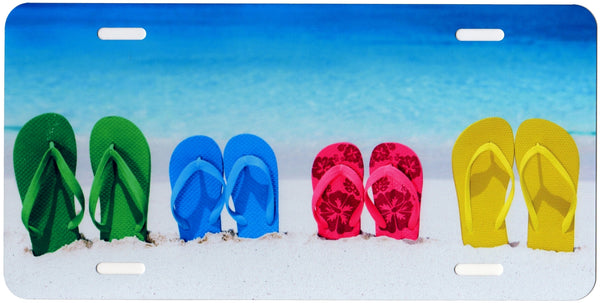 Multi Color Flip Flops Auto Tag