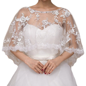 Lacy Wedding Dress Shawl Cover up - BELLADONNA