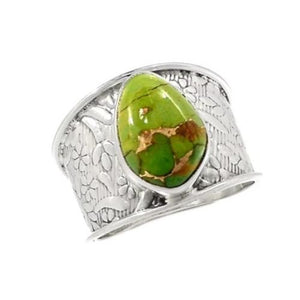 Solid 925 Sterling Silver Ring Natural Sponge Coral Fashion Jewelry Size 8.5