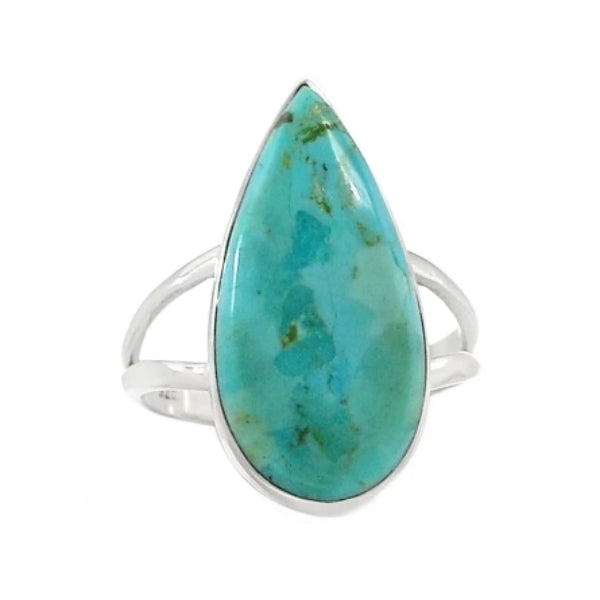 Natural Sleeping Beauty Turquoise, Gemstone Solid .925 Silver Ring Size 8.5 - BELLADONNA