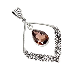 4.50 Cts Natural Smoky Topaz .925 Solid Sterling Silver Pendant - BELLADONNA