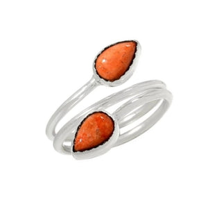 Natural Italian Sponge Coral Solid .925 Sterling Silver Ring Size 8/Q - BELLADONNA