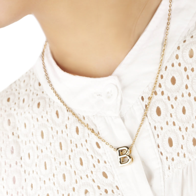 Initials or Name Necklace in Gold - all 26 letters available - BELLADONNA