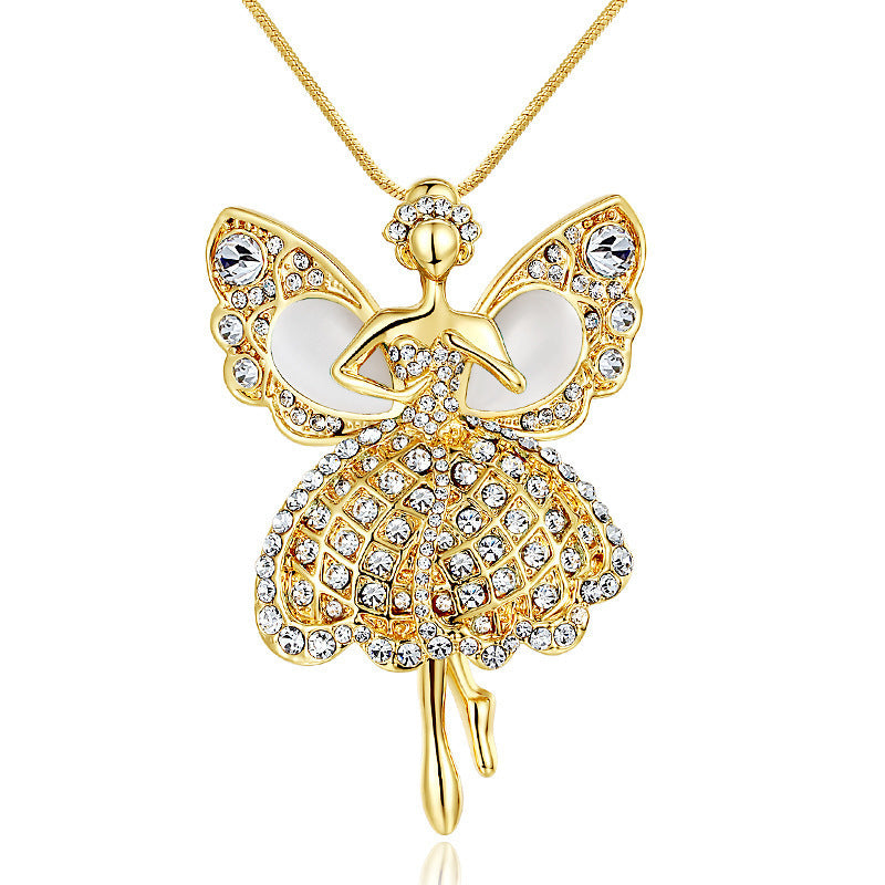Crystal Fairy Sweater Chain Necklace for all Ages - BELLADONNA