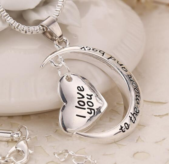 I Love You to the Moon and Back Fashion Silver Necklace - BELLADONNA