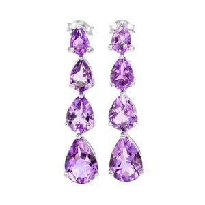 Rare Brazil Purple Amethyst .925 Sterling Silver - February Birthstone - BELLADONNA