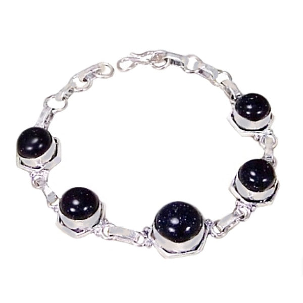 Purple Sandstone Sun Sitara set in .925 Sterling Silver Bracelet - BELLADONNA