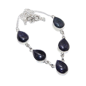 Purple Sandstone set in .925 Sterling Silver Necklace - BELLADONNA