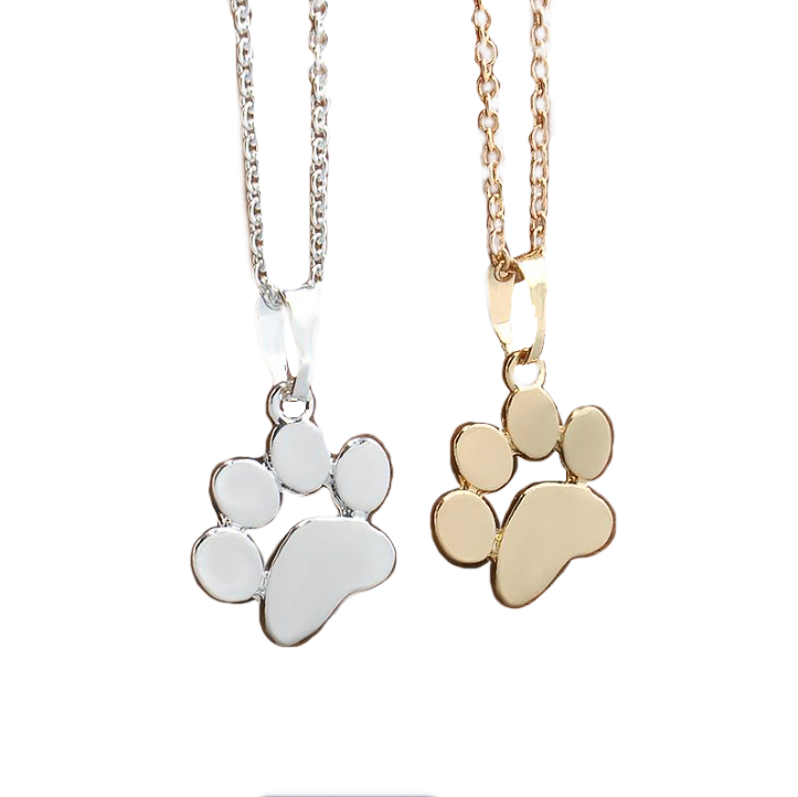 Pet Lovers Footprint Necklace & Pendant in Silver or Gold - BELLADONNA