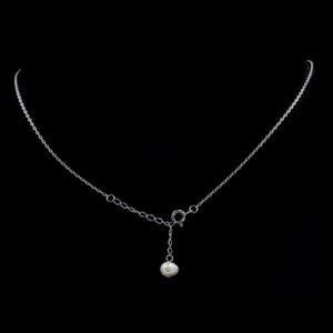 15.9 Cts Incredible Freshwater Pearl ,White Cz Solid. 925 Sterling Silver Necklace - BELLADONNA