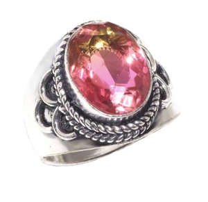 Stunning Colours Faceted Ametrine Gemstone .925 Silver Ring size US 9 - BELLADONNA