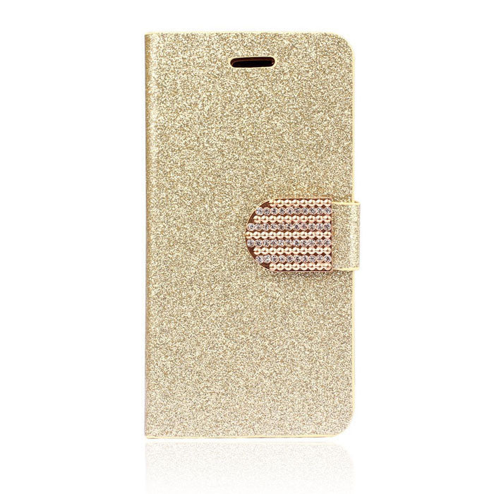 Silver Chain Style Diamond Bling Pouch Handbag/Wallet Case For Samsung Galaxy S5 I9600 - BELLADONNA