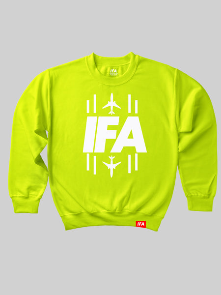 IFA Runway Crewneck Sweatshirt - Electric Green