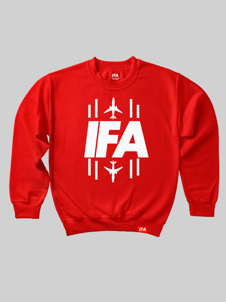 IFA Runway Crewneck Sweatshirt - Red