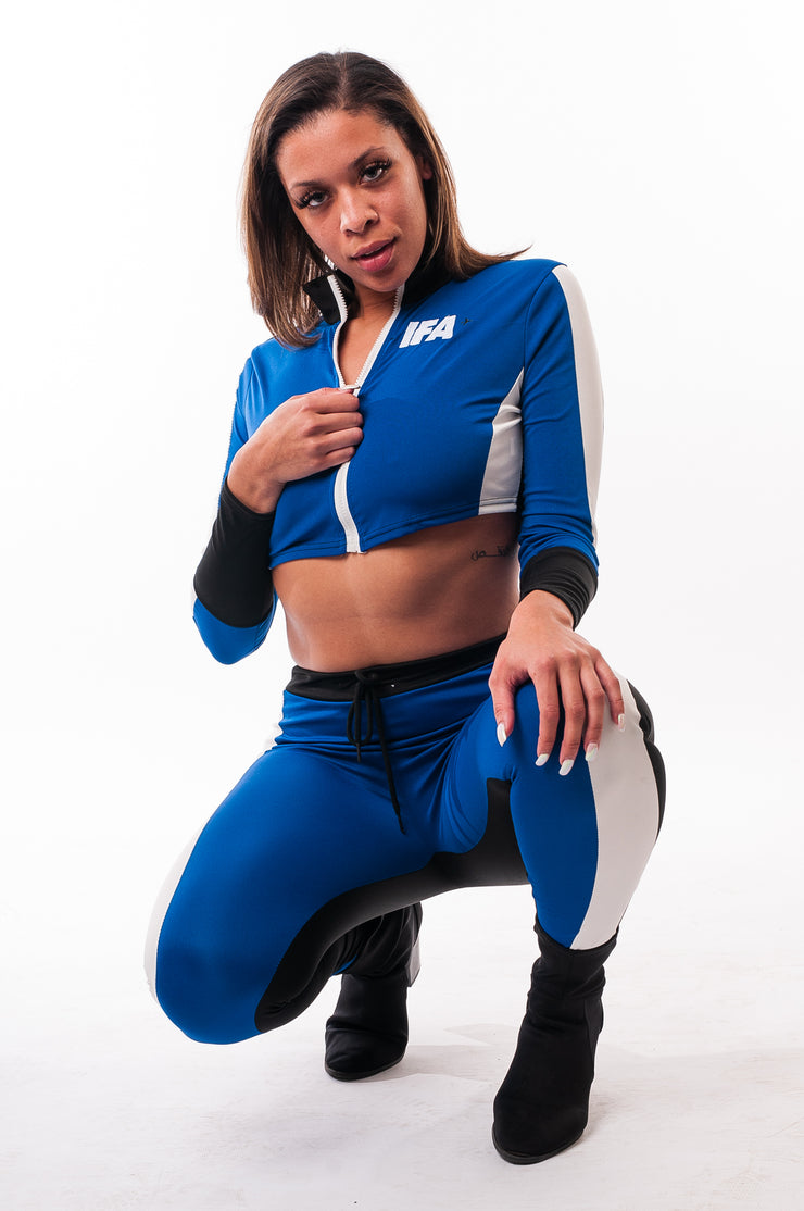 Woman's IFA BLUE Two Piece Track Suit