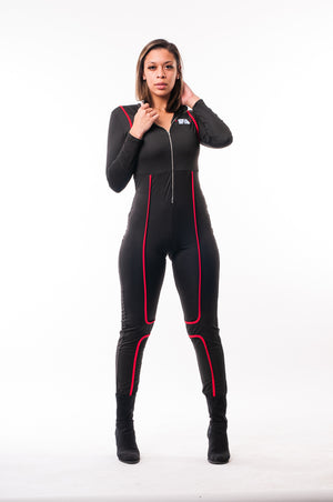 Woman's IFA Black Long-sleeves One Piece Body Suit
