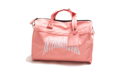 PINK  Leather Duffle Bag
