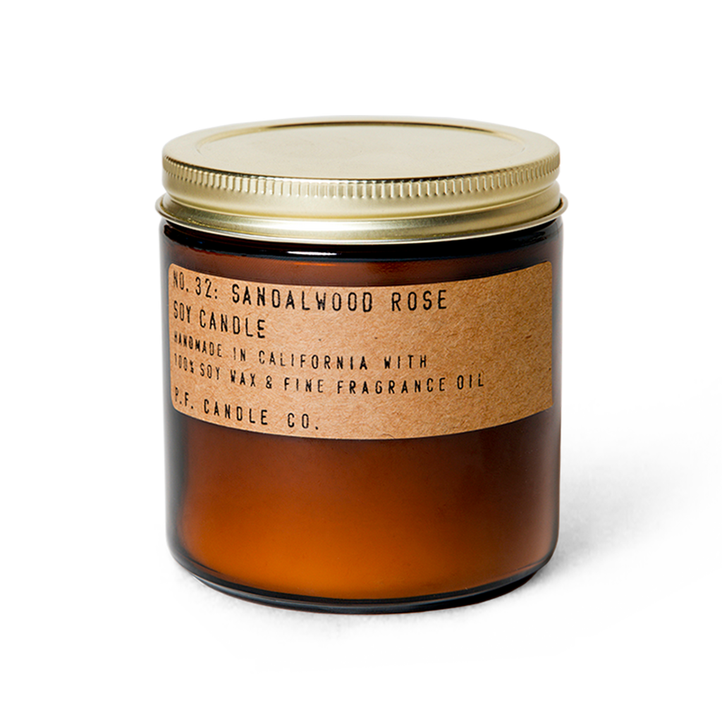 Sandalwood Rose Soy Candle - Juniper Millbrook