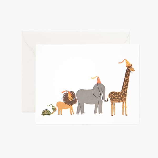 Animal Parade Card - Juniper Millbrook