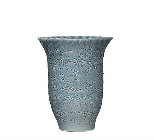 Blue Glazed Terracotta Vase - Juniper Millbrook