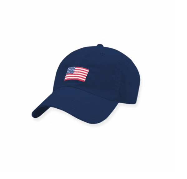 American Flag Needlepoint Hat - Juniper Millbrook