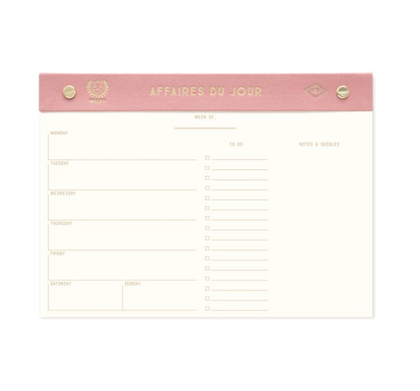 "Weekly Planner ""AFFAIRES DU JOUR"" - Juniper Millbrook"