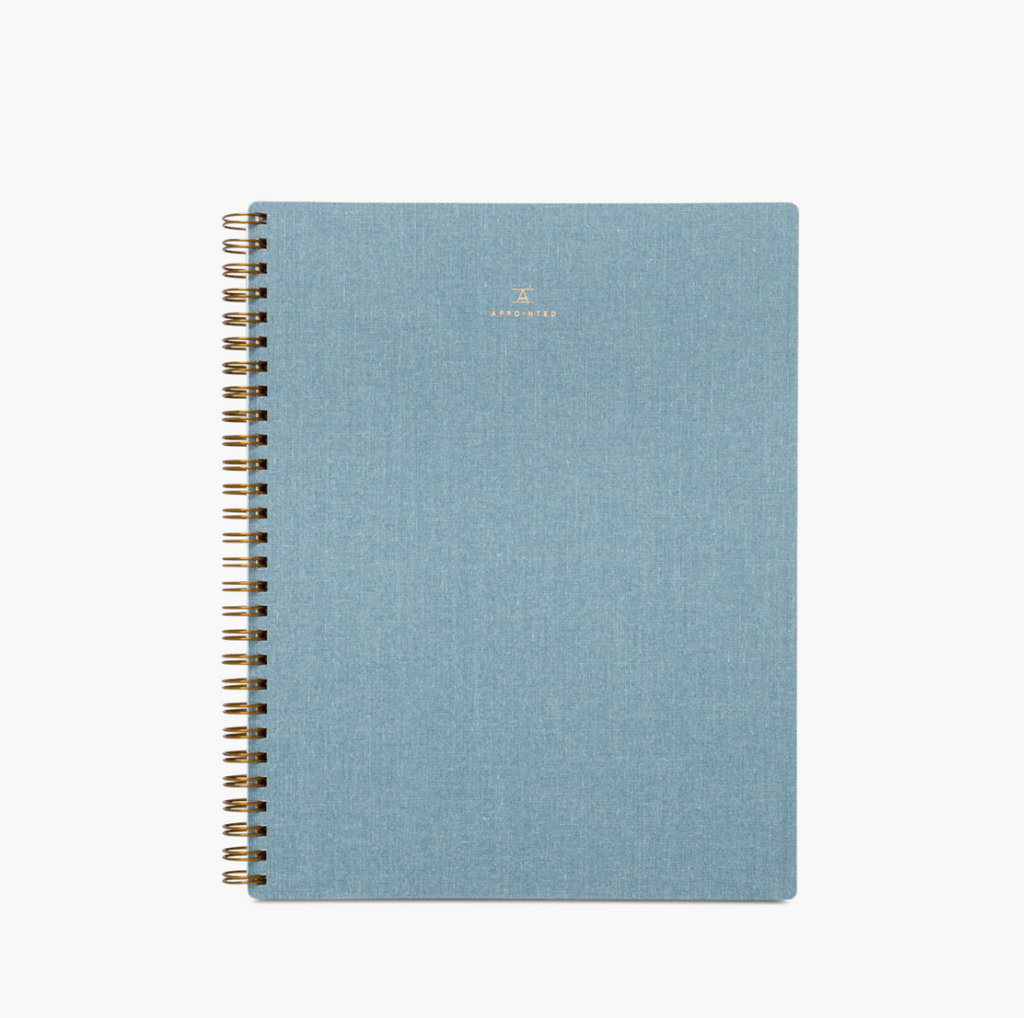 Appointed Chambray Notebook - Juniper Millbrook