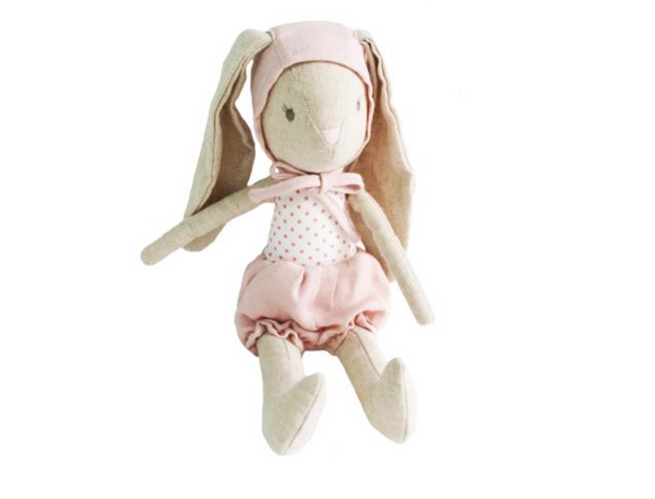 Linen Bunny with Bonnet - Juniper Millbrook