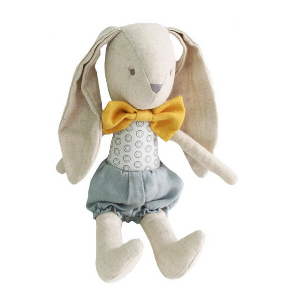 Linen Bunny with Bowtie - Juniper Millbrook