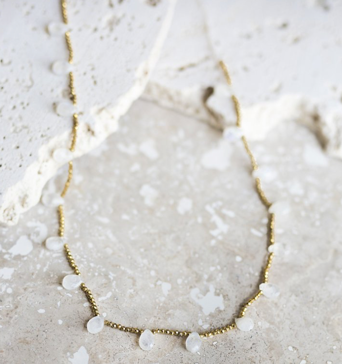 Teardrop Moonstone Necklace - Juniper Millbrook