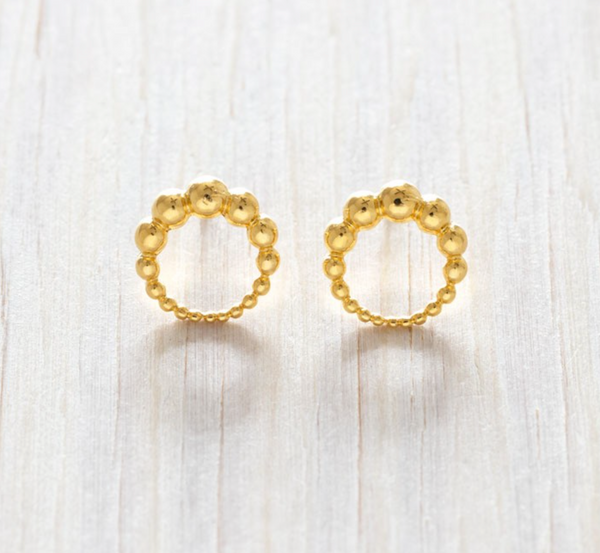 Connected Dots Circle Earring - Juniper Millbrook