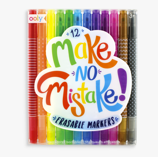 Make No Mistake Erasable Markers - Juniper Millbrook