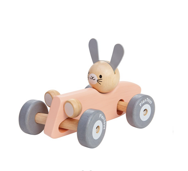 Pink Bunny Race Car - Juniper Millbrook