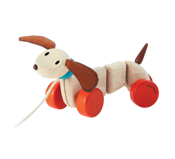 Wooden Pull Puppy - Juniper Millbrook